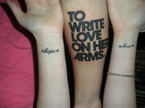 to write love on her arms tats by telegraphedkiss on