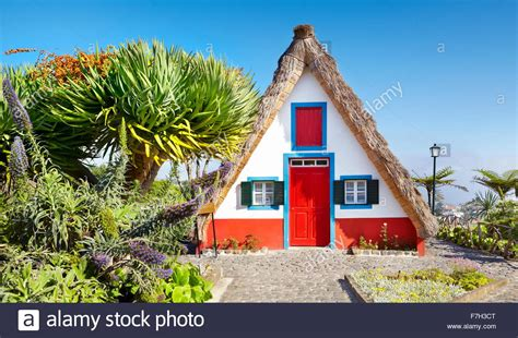 buy house madeira santana traditional home palheiros santana madeira portugal stock photo royalty