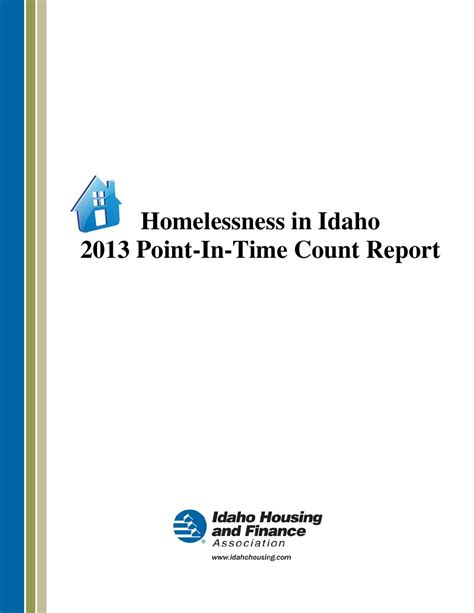 idaho housing and finance association issuu 2013 idaho point in time count by idaho housing and finance association