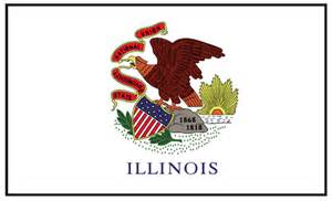 illinois state colors illinois state flag