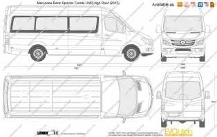 Mercedes Sprinter Height The Blueprints Vector Drawing Mercedes