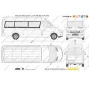 The Blueprintscom  Vector Drawing Mercedes Benz Sprinter Combi LWB