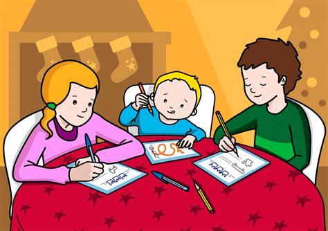 imagenes niños almorzando los ni 241 os escriben la carta de los regalos soyvisual