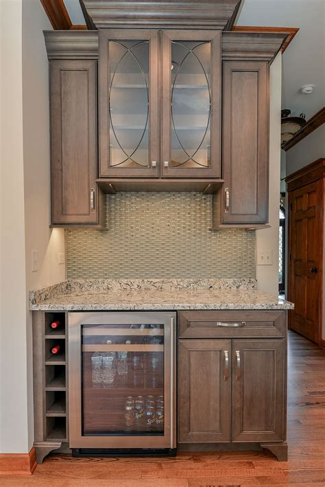 white stained maple cabinets kitchen refreshment center wellborn cabinet inc premier