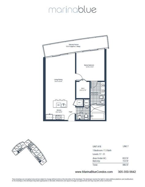 just listed marina blue unit 3507 with direct bay views