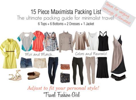 maximista packing list 2013 travel fashion