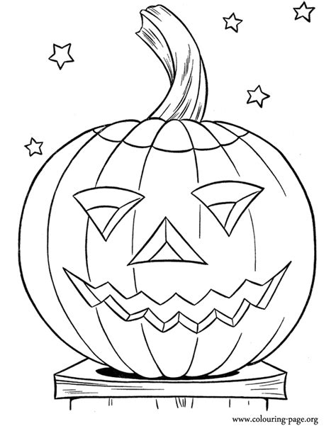 halloween pumpkin coloring pages free halloween halloween pumpkin and some stars coloring page