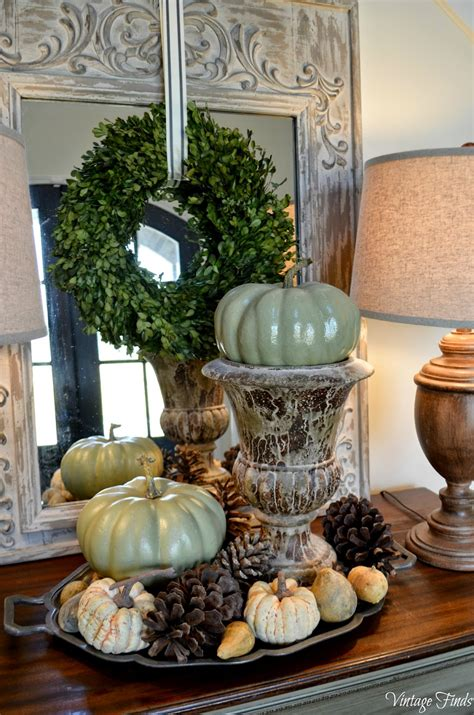 vintage home love autumn table decor and a vintage industrial table vintage finds fall front porch and foyer