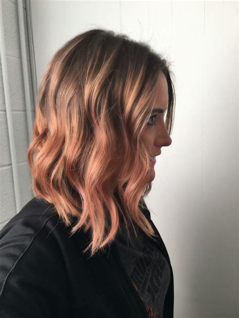 which curlers for lob rose gold lob with loose curls my style pinterest