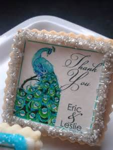 Personalized Wedding Cookie Favors by Peacock Personalized Wedding Favor Shower Cookie By