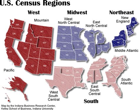 map us census regions boundary maps stats indiana
