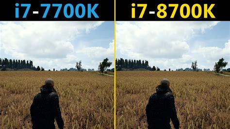 pubg i7 7700k vs i7 8700k competitive graphics settings