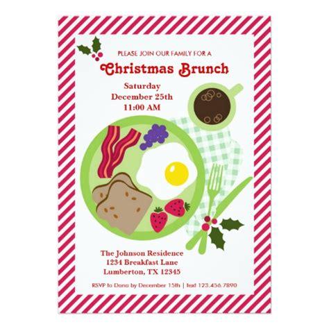 templates for breakfast invitations christmas brunch invitation zazzle