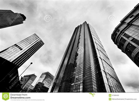 business architecture skyscrapers in london the uk stock