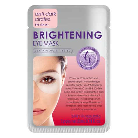 Brightening Mask skin republic brightening eye mask 18g 3 pairs free