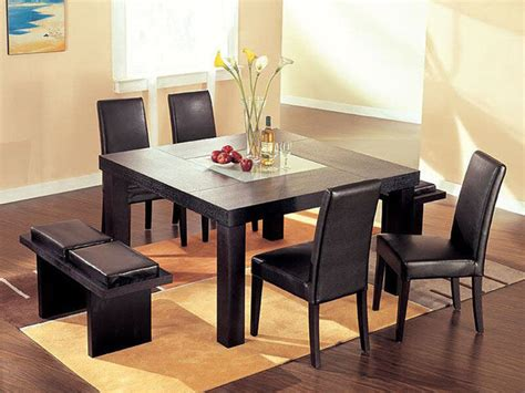 high end kitchen tables high end sqaure wood and frosted glass top leather 5 pc