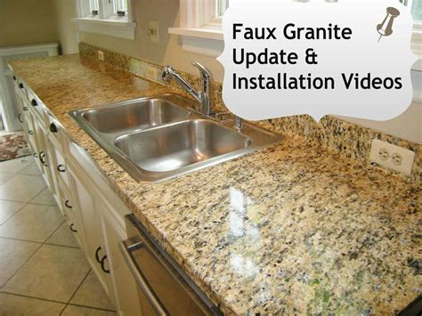 Artificial Kitchen Countertops by Faux Granite Diy Installation