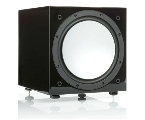 monitor audio silver  gloss black subwoofer