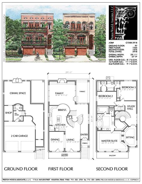 urban townhouse floor plans 104 best townhouse floor plans images on pinterest