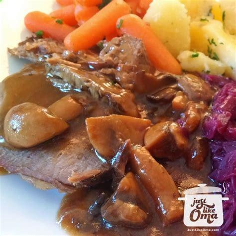 slow cooker roast beef tastes  rouladen