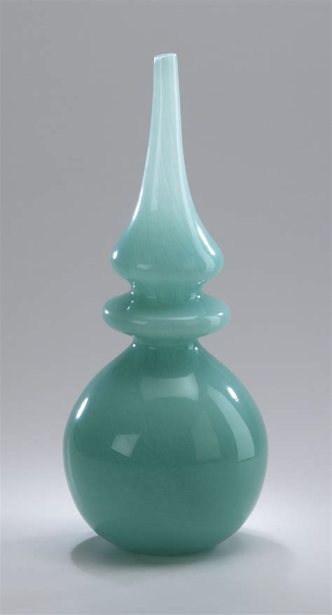 Glass Vase Decor by Stupa Turquoise Glass Vase By Cyan Design