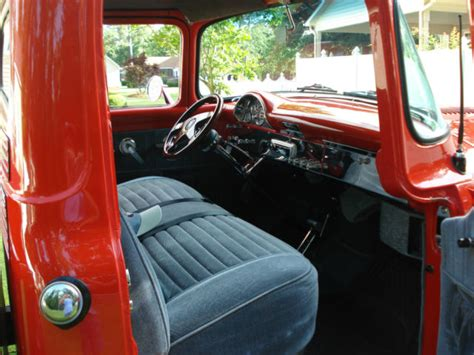 ford truck upholstery 1956 ford truck red exterior light gray interior show