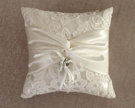 Ring Pillow by Ring Bearer Pillow Ivory Lace Ring Pillow By Antiquebridal