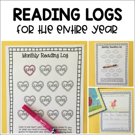 Themed Monthly Reading Logs   Modern Preschool