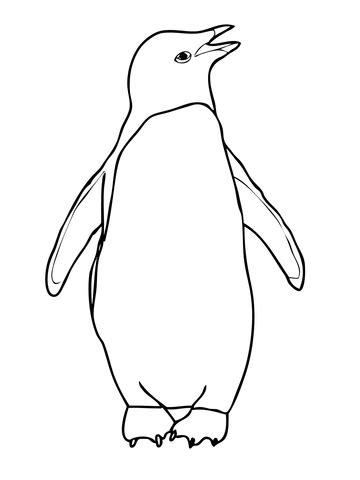 royal penguin coloring page coloriage manchot ad 233 lie coloriages 224 imprimer gratuits