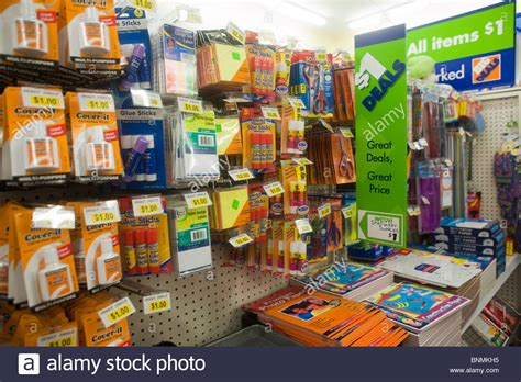 discount supplies dollar deals on back to school supplies are seen in a