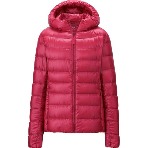 uniqlo women ultra light down parka uniqlo ultra light down parka in red lyst