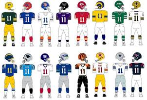 nfl football team colors the gridiron database best nfl tournament