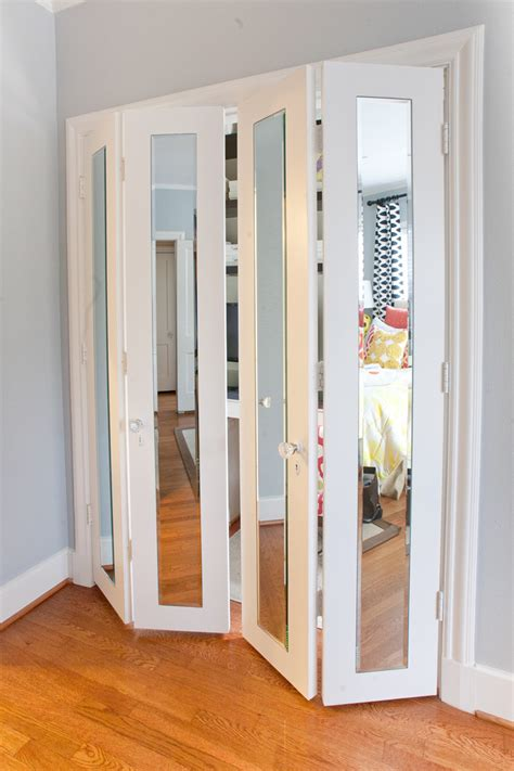 folding doors for bedrooms try this organize your small home with accordion doors