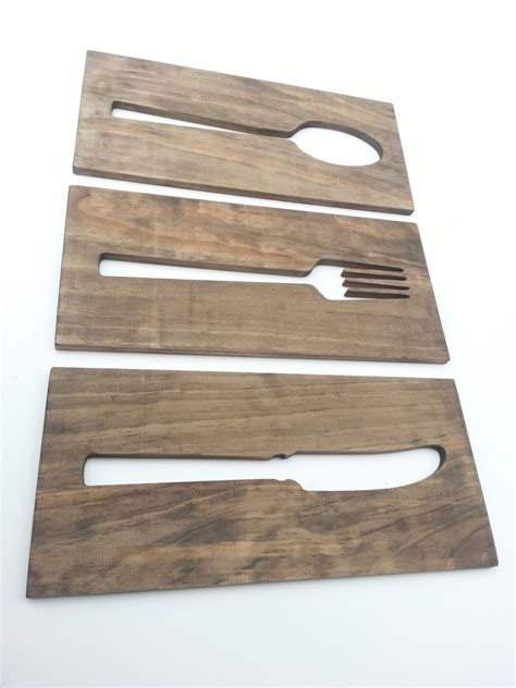 Kitchen Wall Plaques by Kitchen Fork Spoon Knife Wooden Wall Plaques Modern Home