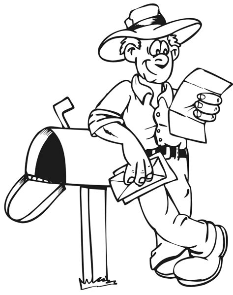 mail coloring page
