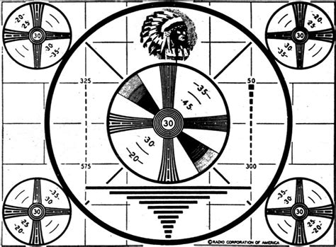 test pattern indian the television test pattern january 1949 radio