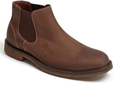 johnston murphy copeland chelsea boot in brown for