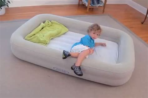 blow up toddler bed watchy watch out for you weight