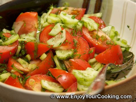 summer salad with tomatoes and cucumbers recipe my