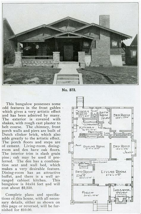 1910 house plans versatile bungalow plan the bungalow book 1910 inglenook