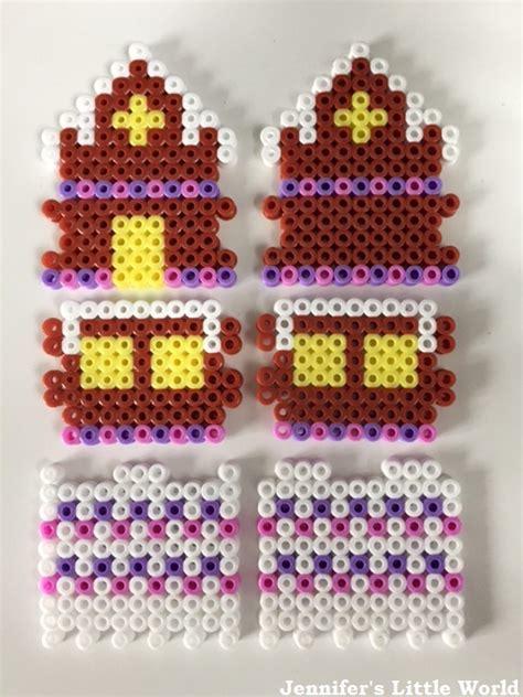 hama beads house design jennifer s little world blog parenting craft and travel a 3d hama bead gingerbread