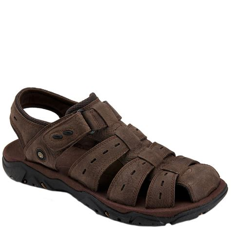 rockport sandals mens rockport s cc fisherman sandals brown clothing