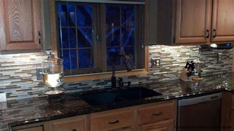 Mosaic Glass Backsplash Kitchen Mosaic Tile Backsplash In Kitchen Freedom Builders Remodelers