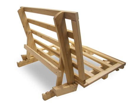 wooden futon frame basic bed
