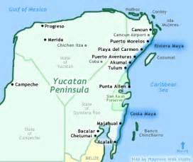 Riviera Maya Mexico Map by Cancun Riviera Maya Mexico Map