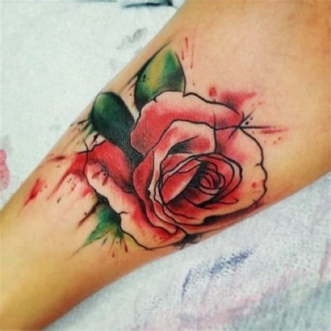 water colour rose tattoo 1000 ideas about watercolor tattoos on