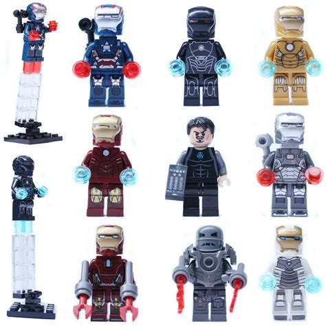 Lego China Captain Patriot 9pcs Iron Gemini Mark2 33 40 42 Patriot War Machine