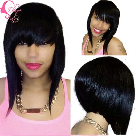 bob wigs human hair black women fashion full lace bob wig human hair short lace front