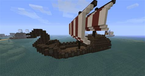 minecraft boat survival simple viking boat minecraft project