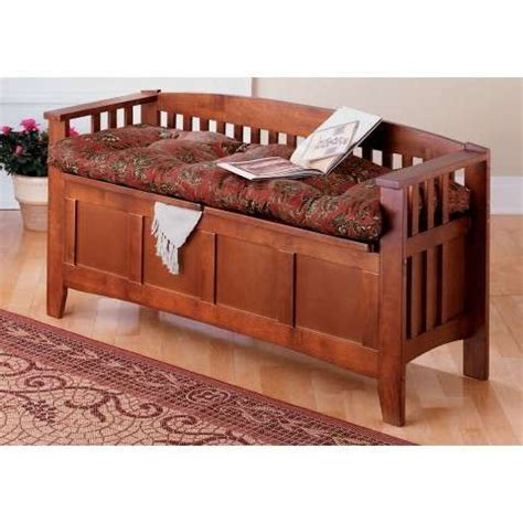 mission style benches mission walnut lowback storage bench woodworking